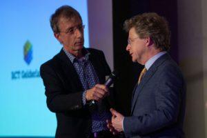 Jan-Willem Vos interviewt gedeputeerde Michiel Scheffer tijdens Nieuwe Tijden