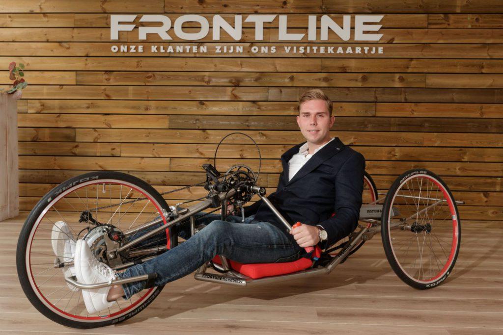 On(op)vallend, Frontline Handbikes uit Brummen, Jesse Wilbrink. Foto Patrick van Gemert/Zutphens Persbureau
