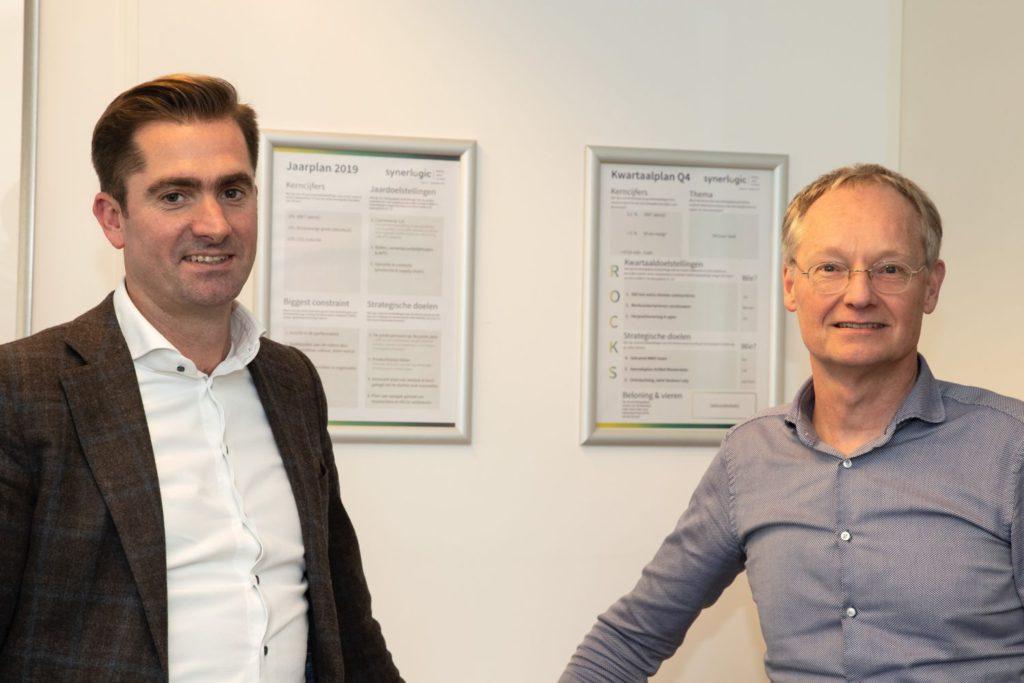 André Kwakman en Erwin Tiemens van Synerlogic. Foto Patrick van Gemert/Zutphens Persbureau
